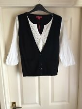 BNWT MONSOON BLACK CARDIGAN / BLOUSE  SZ 10   RRP £ 45  NEW