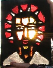 STAINED GLASS RARE VINTAGE ,RELIGiOUS ARTWORK BY ENGINEERED (EPI) -FROM A CHURCH