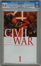 CIVIL WAR #1 FIRST PRINT CGC 9.8 MARVEL COMICS CAPTAIN AMERICA 3 MOVIE