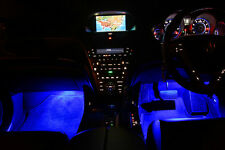 4pc Blue LED Under Dash Kit Interior Glow Lights (4 Modules + Switch Only)