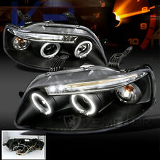 2004-2006 Chevy Aveo Sedan Aveo5 LED DRL Projector Headlights Black