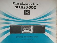 dokorder series 7000 reel to reel owner's reference book