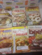 Lot Of 6 Cookbooks Home Cooking Cook Book Pictures Recipes Easy Harvest Summer