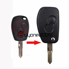Modified Flip Remote Keyless Key Shell Case 2 Button for Renault Megane Modus
