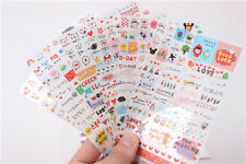 Cute 6 Sheets DIY Word Expression Diary Album Sticker Calendar Card Scrapbooking