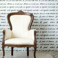 French Poem Lettering Script Stencil for Home decor French Romantic Sayings