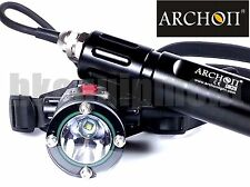 Archon DH25 Cree XM-L U2 Canister Diving Headlight+Archon Charger+26650