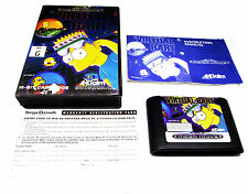 VIRTUAL BART SEGA MEGA DRIVE OZISOFT VERY RARE SUIT COLLECTOR GENESIS SIMPSONSON