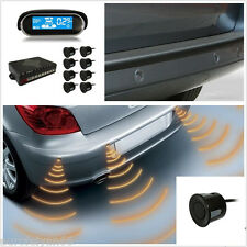 Dual-core Front Rear LCD Display Car 8 Black Parking Sensor Reverse Radar Buzzer