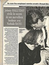 Coupure de presse Clipping 1983 Johnny Hallyday & Nathalie Baye (3 pages)