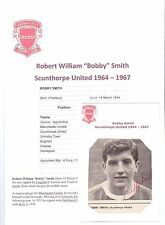 BOBBY SMITH SCUNTHORPE UNITED 1964-1967 ORIGINAL HAND SIGNED PICTURE CUTTING