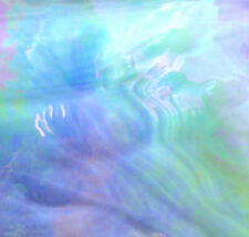 HEAVEN'S BLUE SKY IRIDESCENT Opal Stained Glass SHEET or Mosaic Tiles