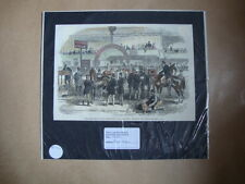 Genuine Hand Coloured Antique Print of a Horse Show at the Agricultural Hall