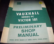Vauxhall Series FC Victor 101 Preliminary Shop Manual