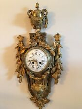 Louis Xv French  Wall Clock 26 X 12 (I believe it's bronze)