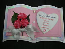 Libro de capa 3 tarjeta de cumpleaños Esposa Novia Rosa 3D Flores Champán en Caja WFG