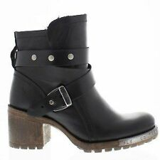 NEW Women's Fly London LOK Black Leather Ankle Boots UK Size 6 / EU 39