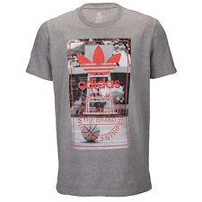 ADIDAS Originals Hardwood Court T-Shirt sz L Large Heather Grey Basketball NEW