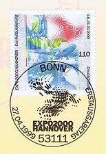 BRD 1999: EXPO 2000 in Hannover! Nr. 2042 mit Bonner Ersttagsstempel! 1A 1611