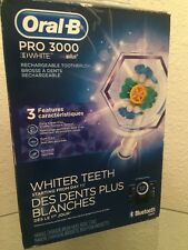 Oral B Pro 3000 3D White Bluetooth Smart Electric Toothbrush. OPEN BOX.