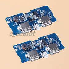 2x 5V 2A Power Bank Charger Board Charging Circuit Board Step Up Module Dual USB