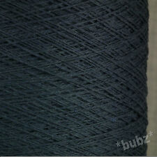 SOFT PURE COTTON CROCHET KNIT YARN 500g CONE 10 BALLS 3 PLY AIRFORCE BLUE GREY