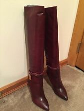 Authentic Beautiful Bordeaux/ Red Tom Ford Padlock Boots 39.5 Ask About LAYAWAY