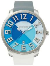 Tendence Gulliver Slim Watch Blue Dial Rubber Strap Quartz Date 47mm TE231001