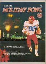 1990 Holiday Bowl Game program BYU Texas A&M
