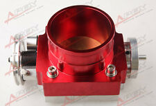 80mm Universal Throttle Body CNC T6 Aluminum Red