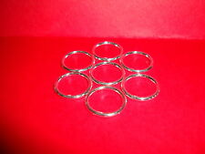 50 pcs 16mm x 2mm silver plated soldered SP closed jump rings jewellery findings