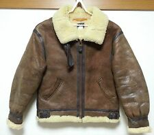 AVIREX B-3 SHEEPSKIN SIZE 40  FLIGHT LEATHER  JACKET   BOMBER GOOD