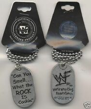 Can You Smell What the Rock is Cookin WWF WWE Wrestling Dog Tag Next Millenium