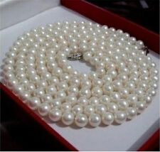 """25""""  long  New 6-7mm white Akoya CULTURED pearl necklace"""