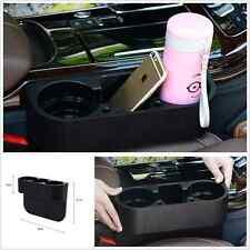 Black Cup Holder Catch Catcher Box Caddy Car Seat Slit Pocket Storage Organizer