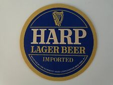 Collectible Beer Coaster  *  GUINNESS Brewing Co Harp Lager Beer ~ Tegistologist