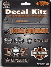 harley davidson motorcycle HD 9 decal kit willie g skull shield let's ride bar