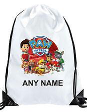 Personalised PAW PATROL bambino borsa da palestra nuoto PE Scuola Di Danza