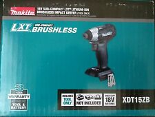 Makita XDT15ZB 18V LXT Lithium-Ion Sub-Compact Brushless Cordless Impact Drill