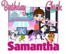 Littlest Pet Shop Custom Tshirt Personalize birthday party gift