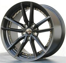 (4) OPTION LAB 18X9.5 5X114.3 WHEELS RIMS 350Z 370Z G35 G37 TSX GENESIS MST