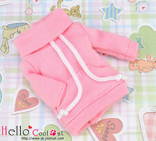 ☆╮Cool Cat╭☆ 209.【NH-A04N】Blythe Pullip Thick Cloth Pocket Top # Sweet Pink