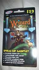Wizard 101 SPIRAL CUP GAUNTLET BUNDLE Prepaid Game Card Pegasus Pony Pet Crowns