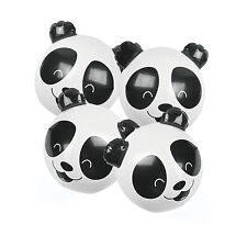 4 Inflatable Panda Beach Balls Luau Tropical Pool Party Favors BABY 1ST BIRTHDAY