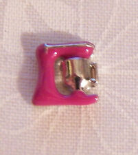 Pink Mixer Floating Locket Charm - Silver-tone - NEW