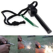 Survival Magnesium Flint And Steel Striker Fire Starter Lighter Stick Camping UK