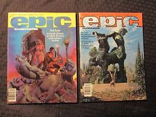 1980/81 EPIC ILLUSTRATED Magazine Summer VF- Dec VF- Richard Corben