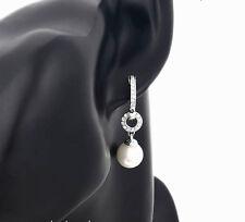 Lusso Orecchini Pendenti Perle Zirconia argento Rhiannarhianna Oro bianco 18 K
