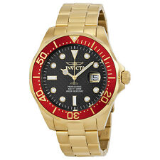 Invicta Pro Diver Black Dial Gold-plated Mens Watch 14359