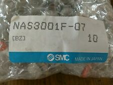 "SMC NAS3001F-07  SPEED CONTROL 1/4"" OD  TUBE  NEW IN FACTORY BAG (if 10 bought)"